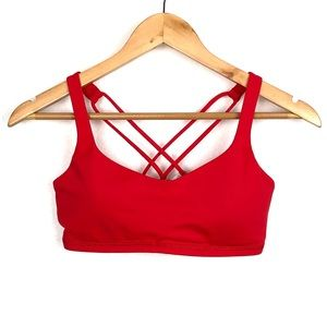 Lululemon Free To Be Red Bra size 6
